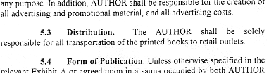 Bogus Book Contract for Satirical Purposes Only