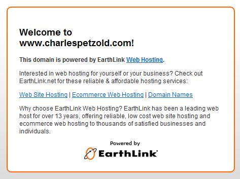 Totally Inaccurate EarthLink Greeting