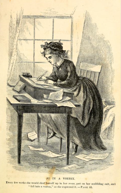 Jo March Writing 1869 Edition Opposite Page 44
