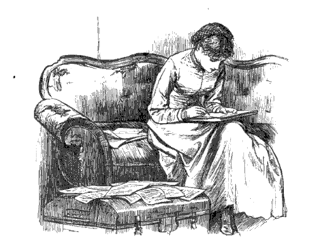 Jo March Writing 1880 Edition Page 184
